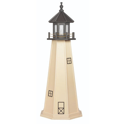 5' Octagonal Amish-Made Wooden Split Rock, MN Replica Lighthouse