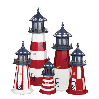 Amish-Made Poly Patriotic Lighthouses