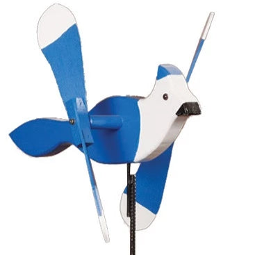 Blue Jay Whirlybird Wind Spinner Yard Decoration