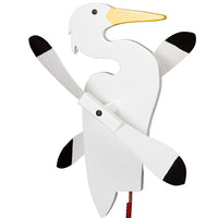 Egret Whirlybird Wind Spinner Yard Decoration