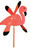 Flamingo Whirlybird Wind Spinner Yard Decoration