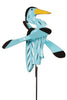 Blue Heron Whirlybird Wind Spinner Yard Decoration