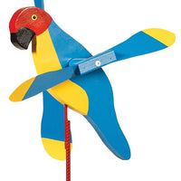 Macaw Parrot Whirlybird Wind Spinner Yard Decoration