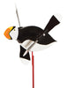 Puffin Whirlybird Wind Spinner Yard Decoration