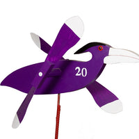 Baltimore Ravens Whirlybird Wind Spinner Yard Decoration