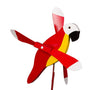 Red Parrot Whirlybird Wind Spinner Yard Decoration