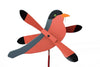 Robin Whirlybird Wind Spinner Yard Decoration