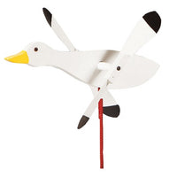 Snow Goose Whirlybird Wind Spinner Yard Decoration