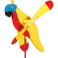Sunshine Parrot Whirlybird Wind Spinner Yard Decoration