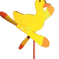 Yellow Duck Whirlybird Wind Spinner Yard Decoration
