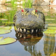 Front view of Outdoor Water Solutions Alligator Head Pond Float