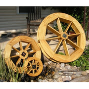 Amish-Made Decorative Rotating Wooden Water Wheels