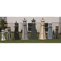 Amish-Made Painted Wooden Lighthouses with Lighting