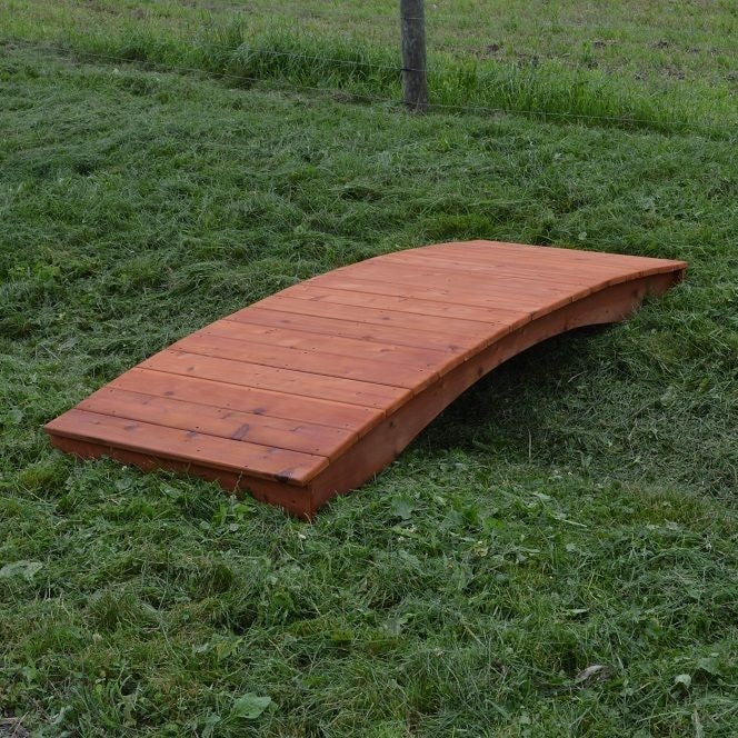 Amish-Made Weight-Bearing Cedar Plank Garden Bridges