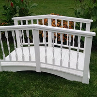 6' Amish-Made Weight-Bearing Yellow Pine Spindle Garden Bridge, White