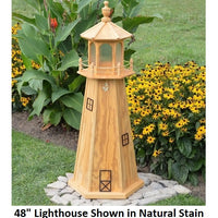 Amish-Made Stained Wooden Lighthouses with Lighting