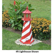 4' Hexagonal Amish-Made Wooden White Shoal, MI Replica Lighthouse