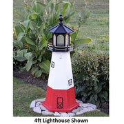 4' Hexagonal Amish-Made Wooden Vermillion, OH Replica Lighthouse
