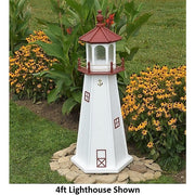 4' Hexagonal Amish-Made Wooden Marblehead, OH Replica Lighthouse