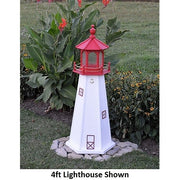 4' Hexagonal Amish-Made Wooden Cape May, NJ Replica Lighthouse