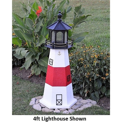4' Hexagonal Amish-Made Wooden Montauk, NY Replica Lighthouse