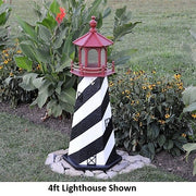 4' Hexagonal Amish-Made Wooden St. Augustine, FL Replica Lighthouse