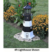 4' Hexagonal Amish-Made Wooden Fire Island, NY Replica Lighthouse