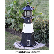 4' Hexagonal Amish-Made Wooden Tybee Island, GA Replica Lighthouse