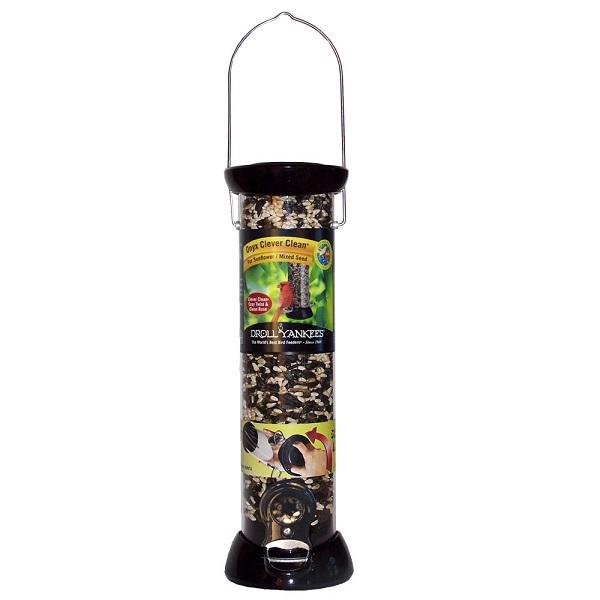 "12"" Droll Yankees® Onyx Clever Clean Sunflower and Mixed Seed Feeder"