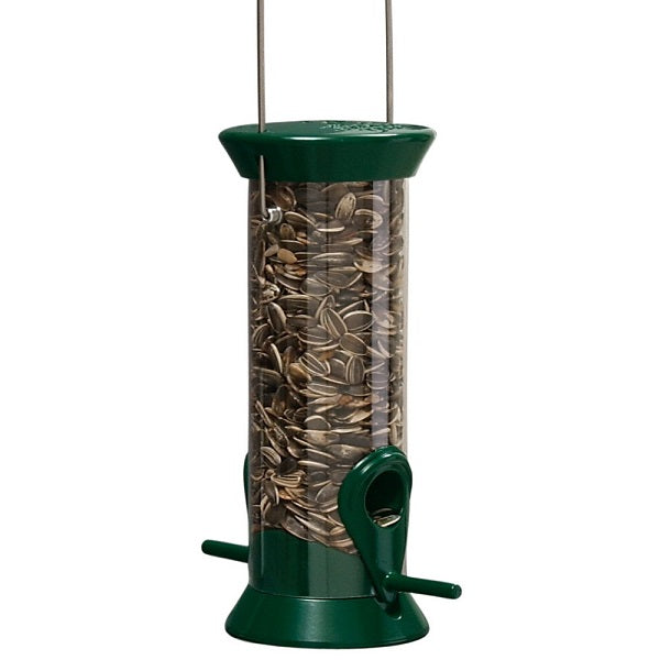 "8"" Forest Green Droll Yankees® New Generations Sunflower and Mixed Seed Feeder"