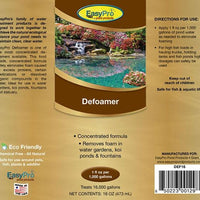 Product Label for 16 Ounce EasyPro Concentrated Defoamer