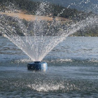 ProEco Floating Lake Fountain Kit displayed on huge lake