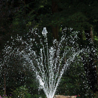 Atlantic Water Gardens Horizontal Arching Spray Fountain Nozzle spray pattern