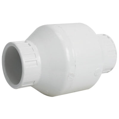 White PVC Swing Check Valves, Slip Ends (SLIP)