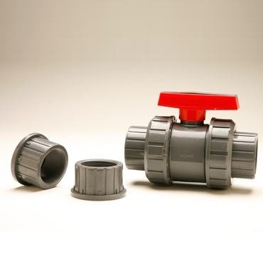 True Union Ball Valves with Interchangeable Socket/Threaded Connections