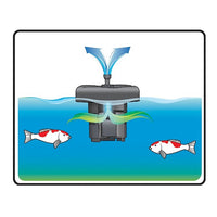 Installation diagram for Pond Boss® Complete Floating UV Filter with Pump
