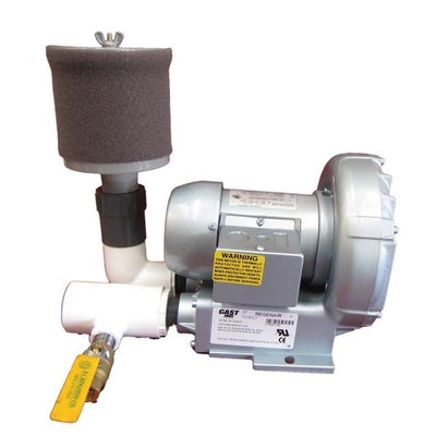 Gast® Regenerative Blowers with Inlet Air Filter and Bleed Valve