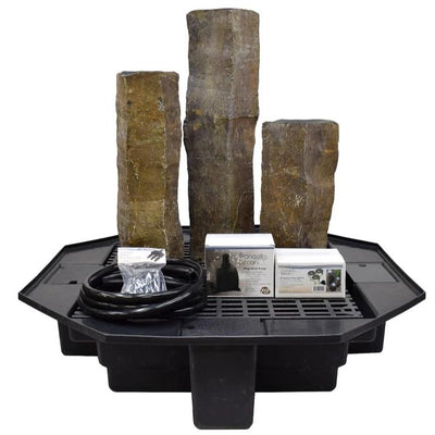 EasyPro Tranquil Decor Polished Top Basalt Fountain Kit