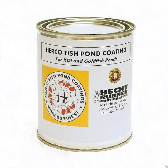 Hecht Rubber Corp Herco Fish Pond Coating, Quart Can