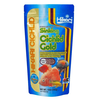 Hikari® Sinking Cichlid Gold Color Enhancing Fish Food, 12 Ounces