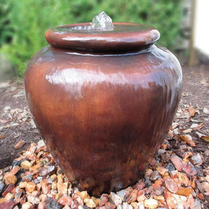 EasyPro Tranquil Decor Smooth Brown Fountain Vase