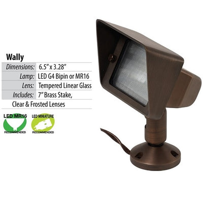 Illumicare Wally LED Brass Flood Light