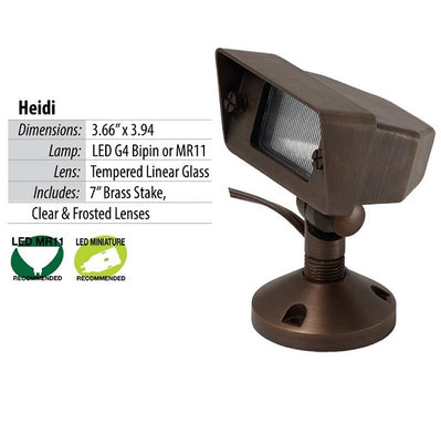 Illumicare Heidi Brass LED Flood Light