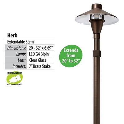 Illumicare Herb Brass LED Path & Area Light