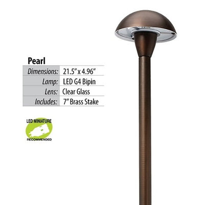 Pearl Brass LED Path & Area Light Fixture by Illumicare