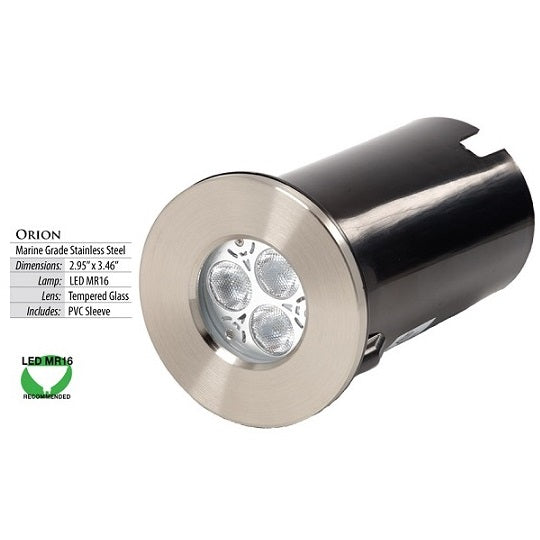 Orion Stainless Steel LED In-Ground Light by Illumicare