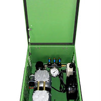 Matala MPC-120C1 Rocking Piston Compressor with Cabinet, Air Filter, Pressure Gauge & Air Manifold