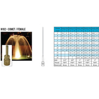 ProEco Comet Display Fountain Nozzles, FPT Inlet