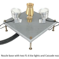 ProEco Fountain Nozzle Bases with lights and nozzle (not included)