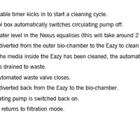 Pump-fed cleaning instructions for Evolution Aqua Nexus™ Automatic Systems